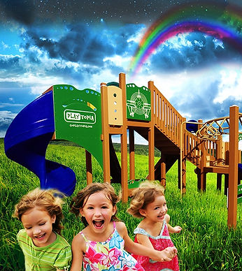 Recycled Playground Equipment by Playtopia - Green, Eco-Friendly, and Fun!