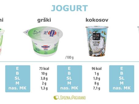 Mlečni in rastlinski jogurti