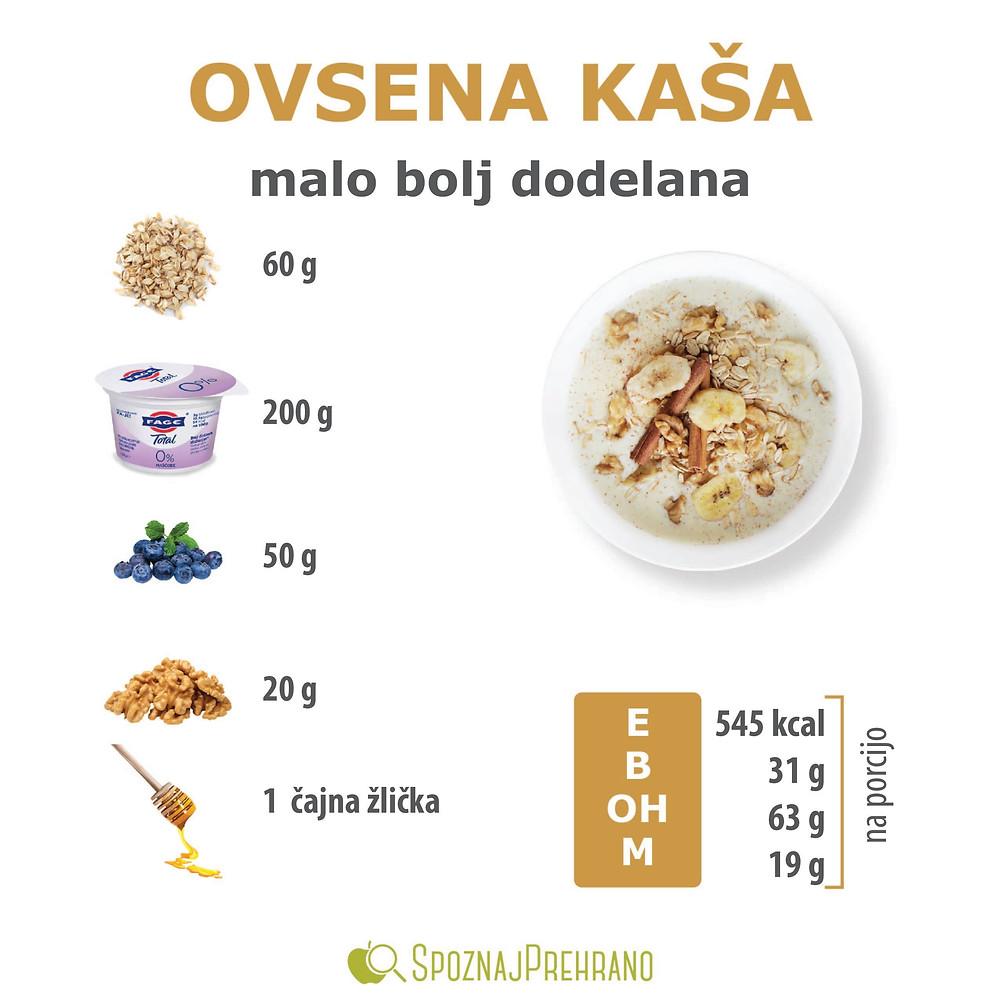 ovsena kaša, ovseni kosmiči, zajtrk, grški jogurt, skyr, skuta, beljakovine, uravnotežen obrok, zdrav obrok