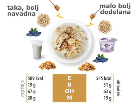 Je tvoja (ovsena) kaša uravnotežen obrok?