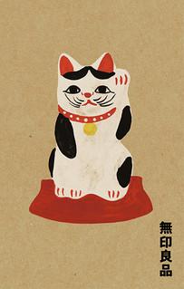 イラストレーション / 乙川人形招き猫