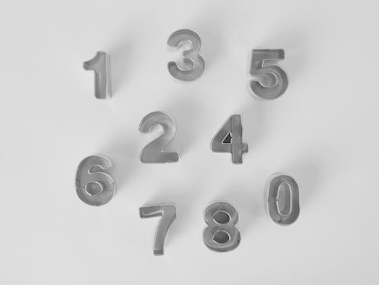 クッキー型数字 / ステンレス / 無印良品