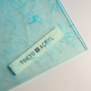 Tokyo Acryl 新作和紙封入アクリル板 浅葱色
