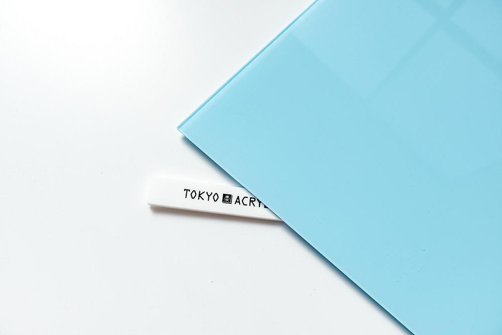 水色×クリアーの二層板 3mm厚  / TOKYO ACRTL