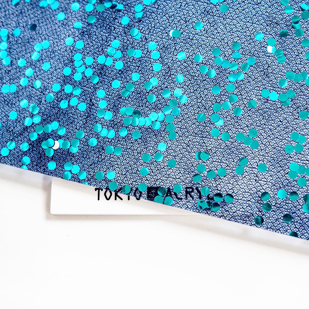 スパンコールレースアクリルblue / Tokyo Acryl