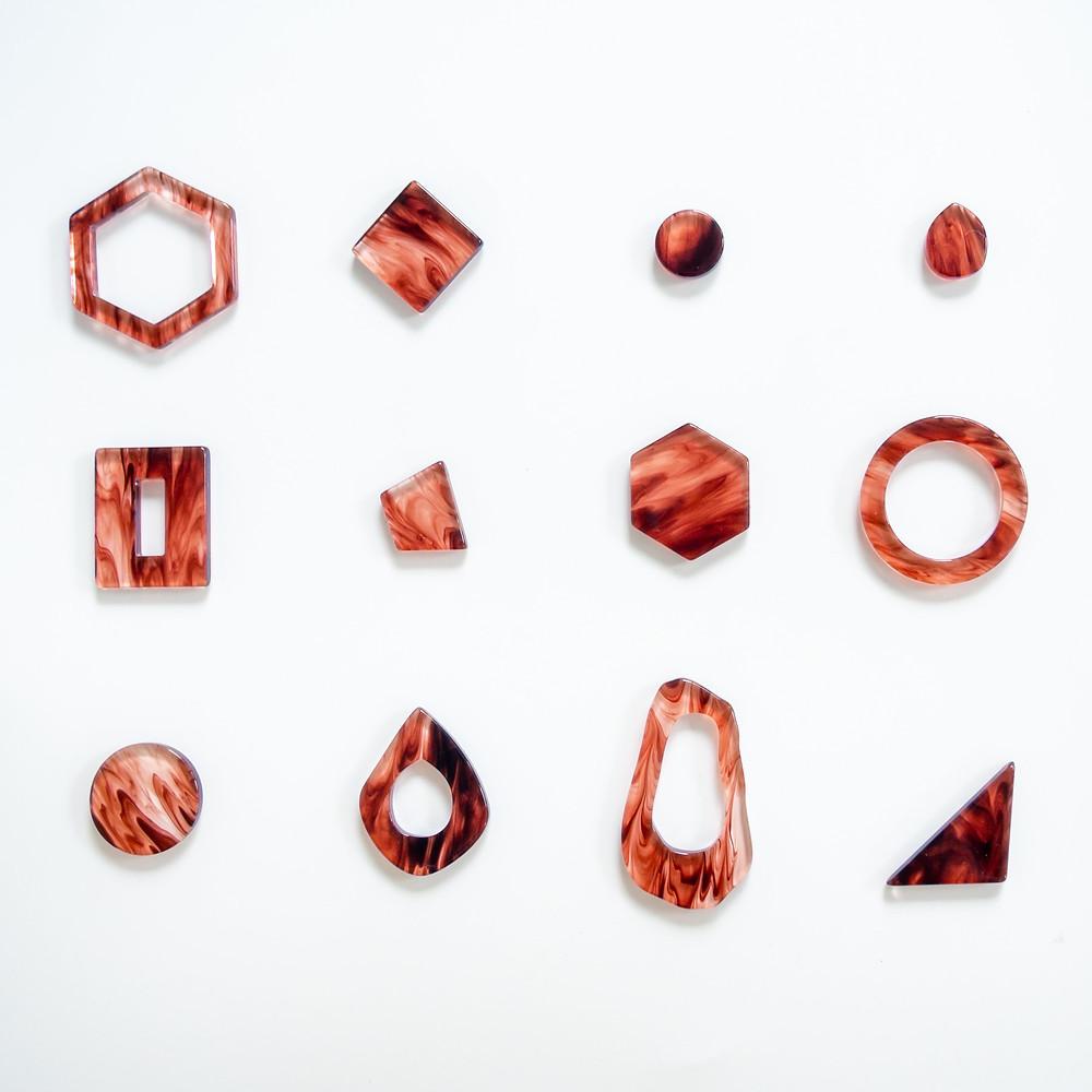 Clear marble【Brown】を使用したパーツ/Tokyo Acryl