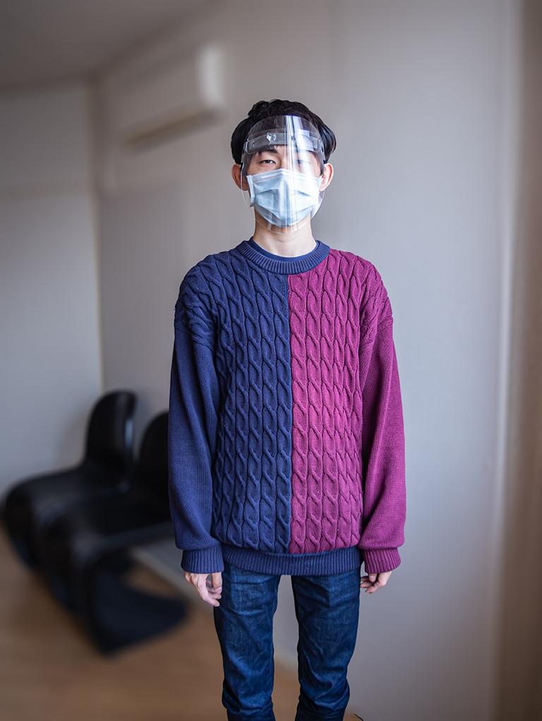 シンプルなのでファッションを妨げません Face shieldV3 / Miyuki Acryl