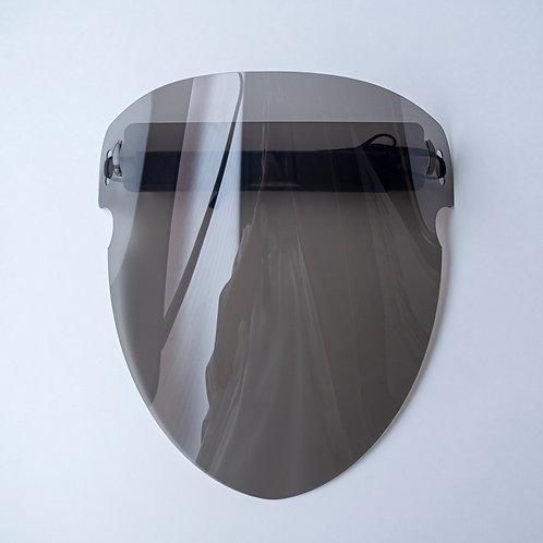 デザインフェイスシールドV8ソフトの黒色半透明