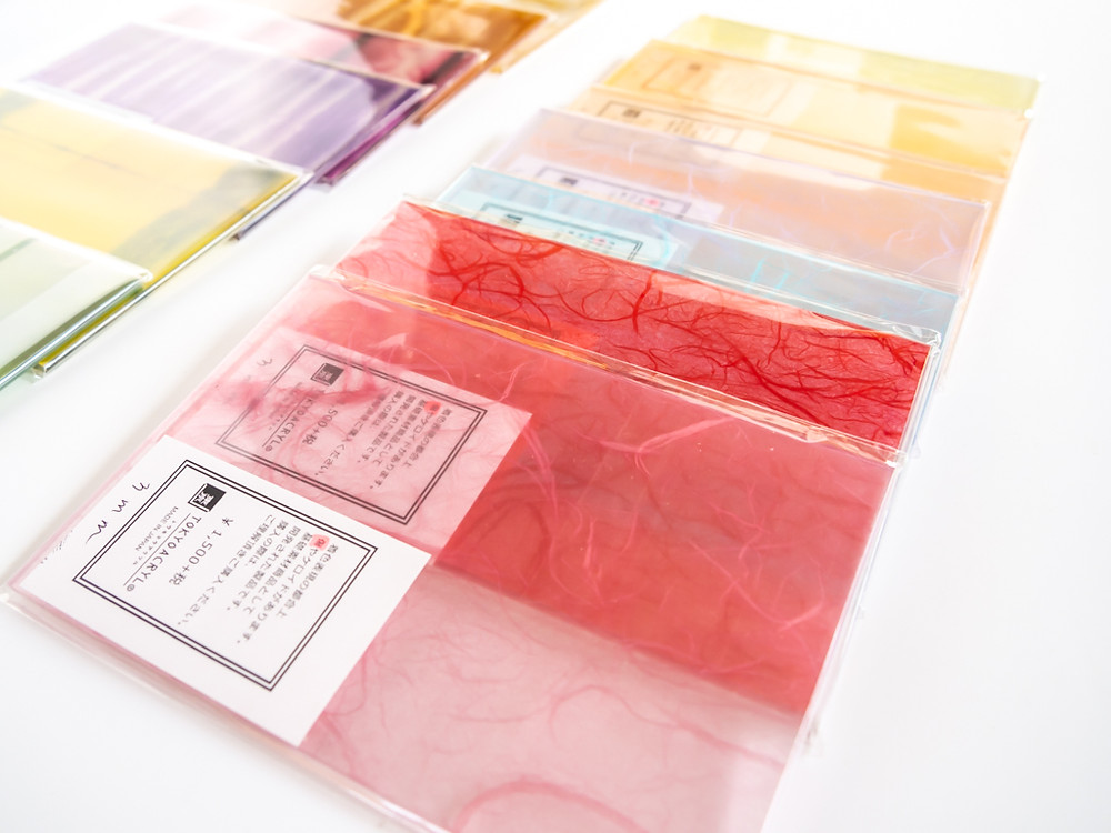 Tokyo Acryl 新作和紙封入アクリル板