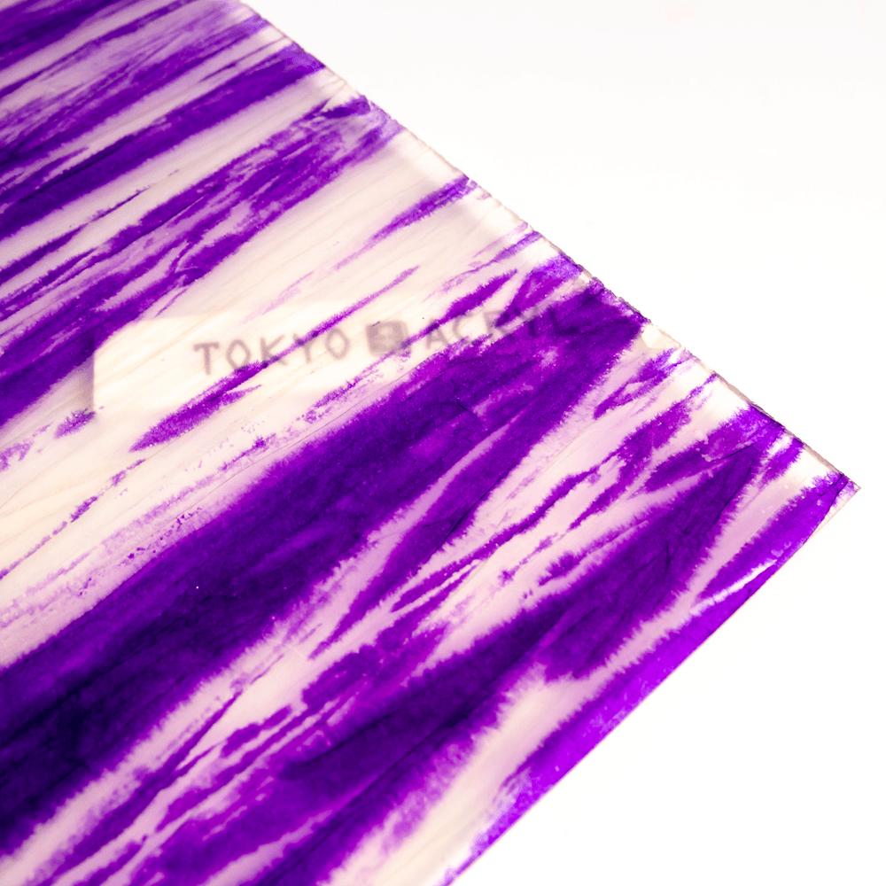 柳絞り染め和紙封入アクリル【Purple】/Tokyo Acryl