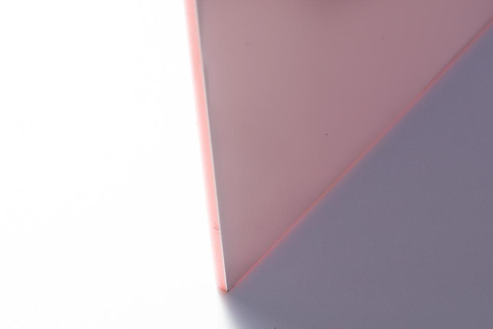 ピンク×白の二層板 3mm厚 / TOKYO ACRTL