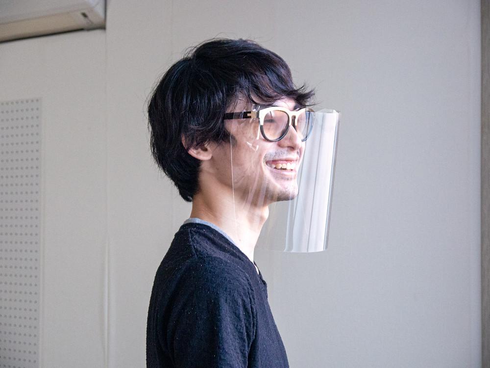 メガネ×フェイスシールド / Miyuki Acryl