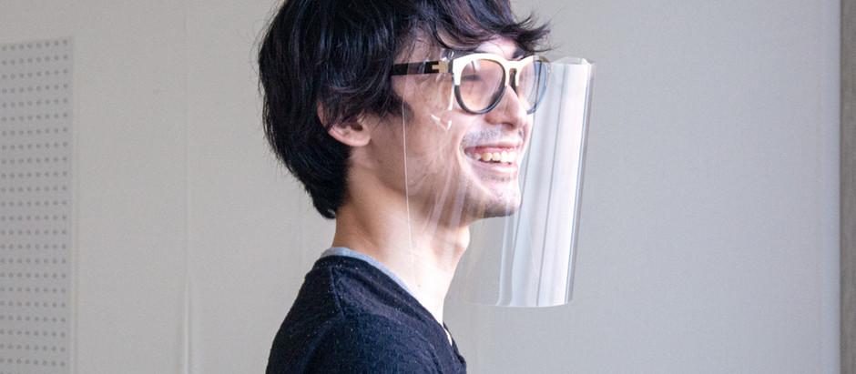 フェイスシールドV10アレンジ方法メガネ編(クリアファイルでも可)
