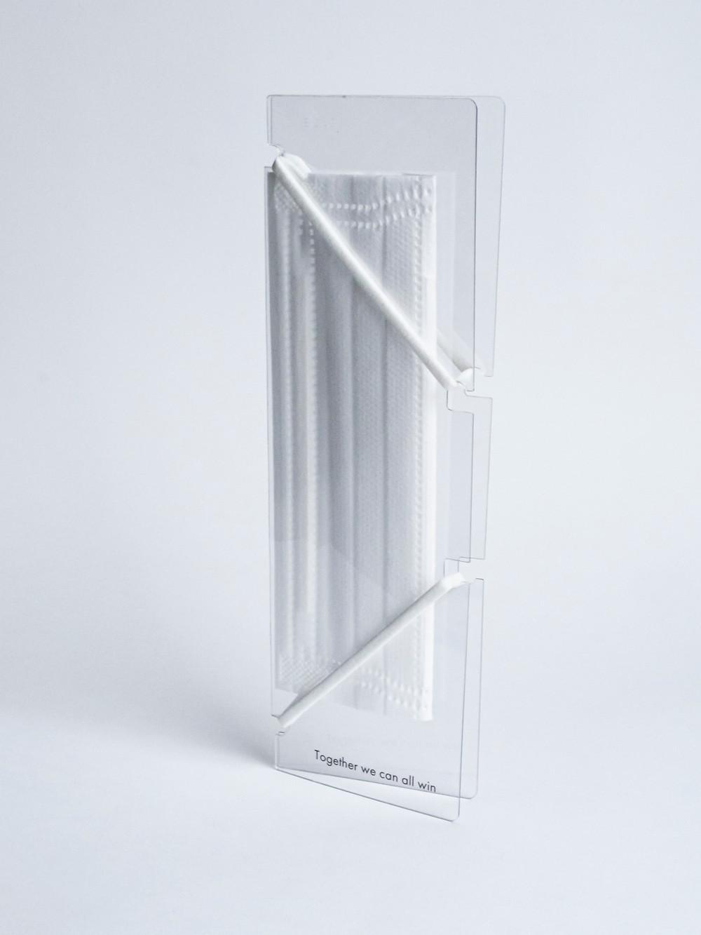 マスクホルダー(ロゴ入イメージ)の縦置き写真
