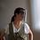 フェイスシールドV8ソフトの黒色半透明装着イメージ