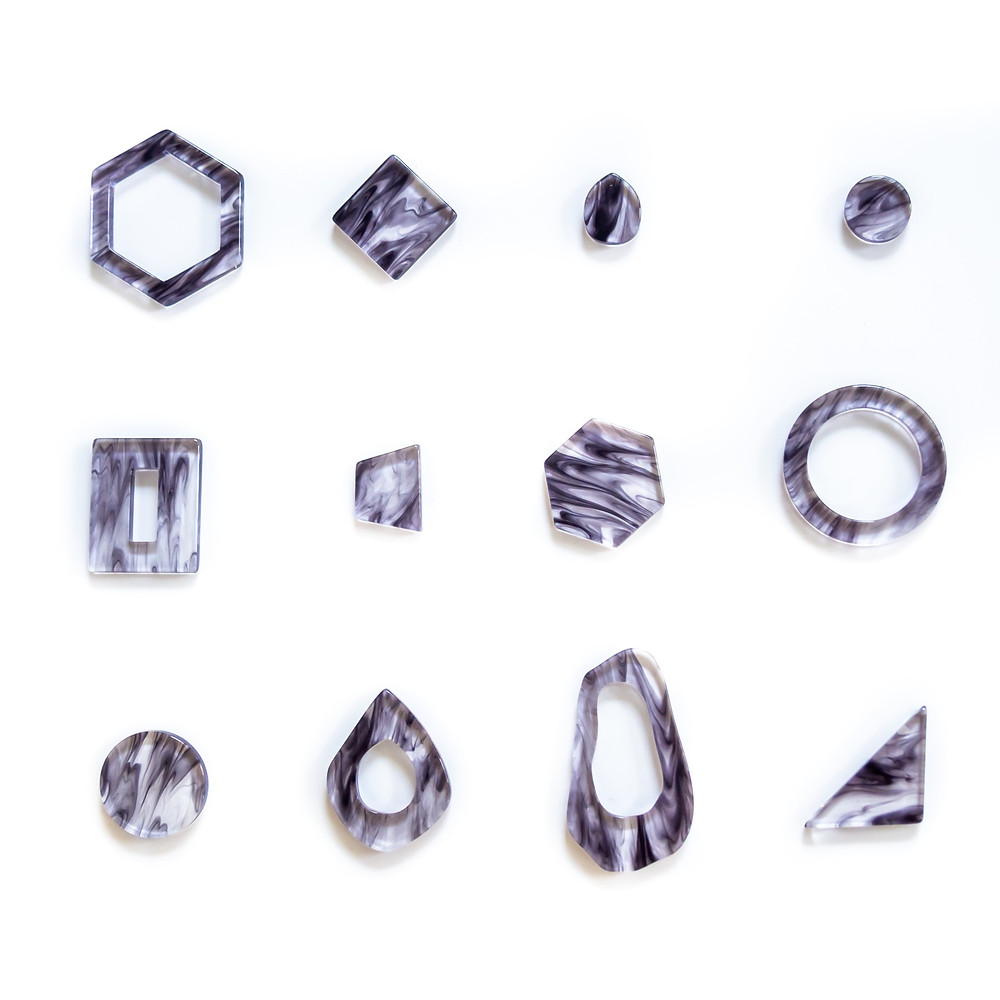 Clear marble【Black】を使用したパーツ/Tokyo Acryl