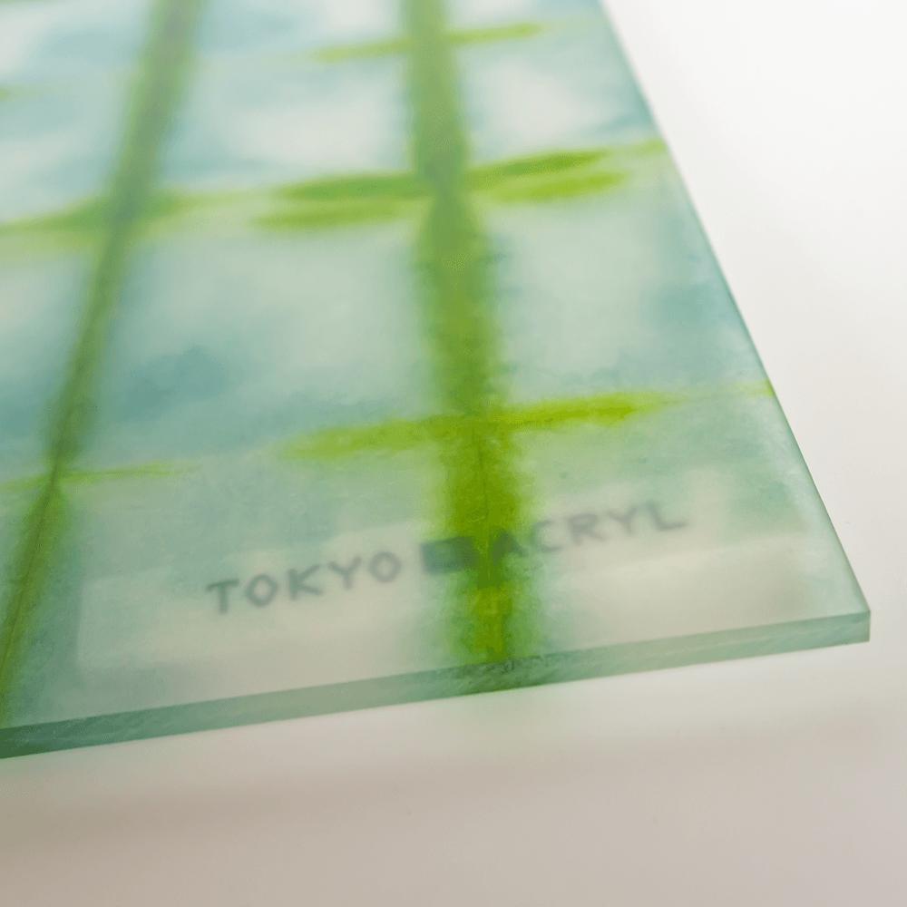 板締め染め和紙【Green】/Tokyo Acryl