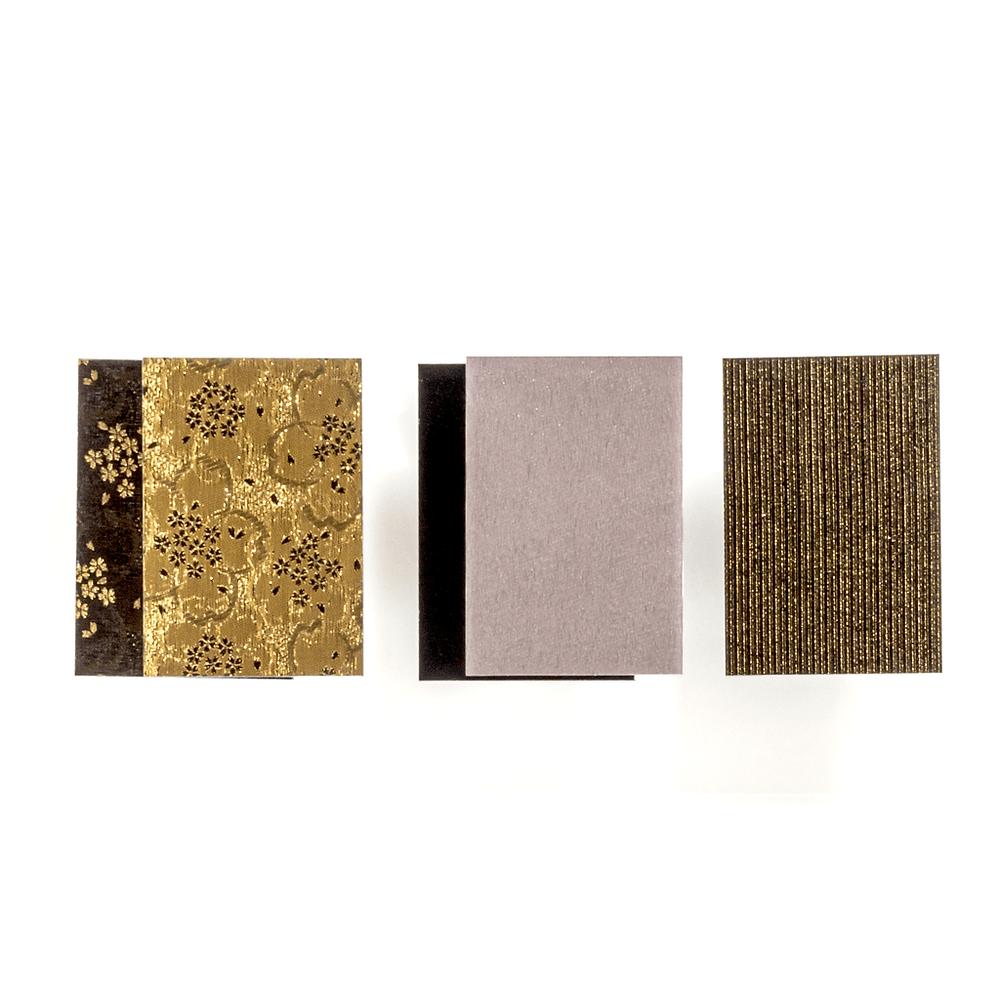 帯布/縦糸が銀で横糸が赤の布/縦糸に金色 /Tokyo Acryl