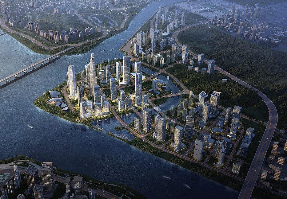 Urban design calibration of the 18plots within Hengqin CBD