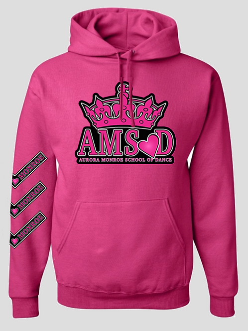 "Pink ""It's Aurora Monroe"" Hooded Sweatshirt"