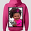 "Thumbnail: Pink ""It's Aurora Monroe"" Hooded Sweatshirt"