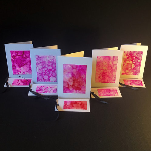5 Card Pack - Pink