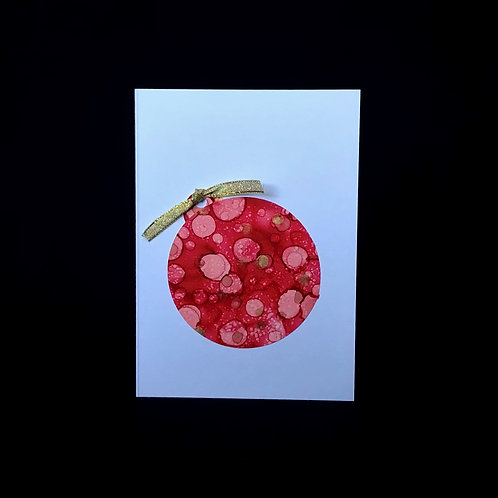 Christmas Card - Red Bauble