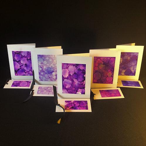 5 Card Pack - Purple