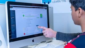 TechyKids Brampton Teacher Helping Stude