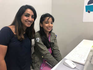 Our Teacher Sabina with a student