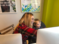 Ninah working with a student at our TechyKids Newmarket Location