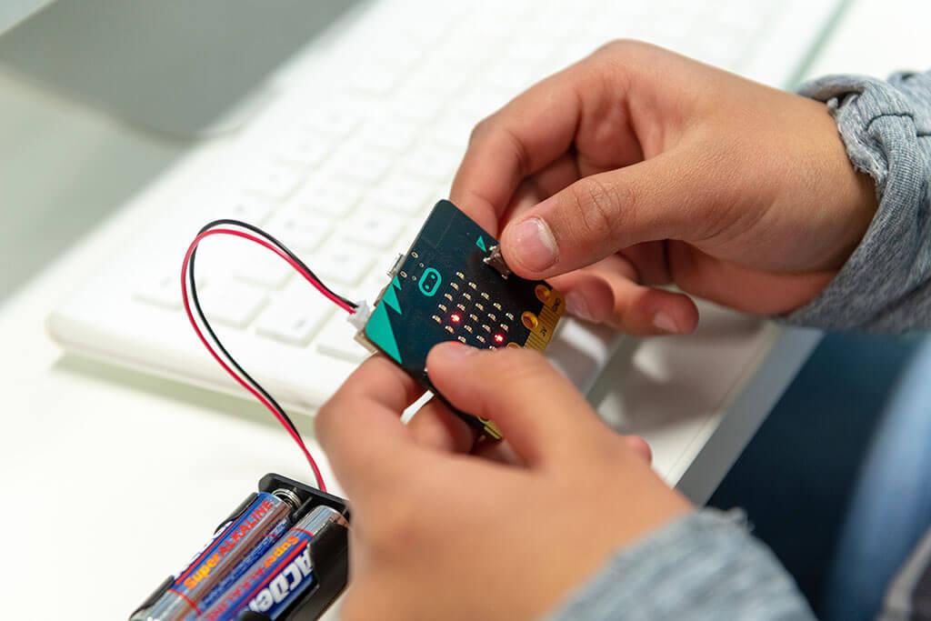 TechyKids Brampton Student Working With