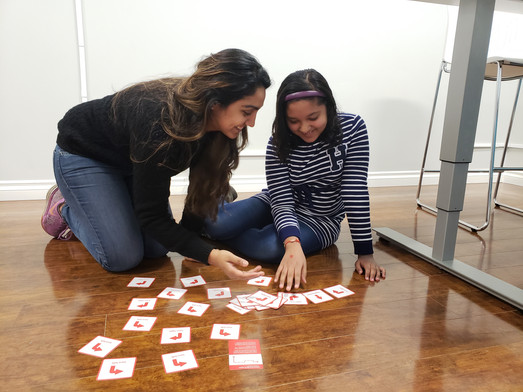 Hands on learning methods by our TechyKids Brampton teacher Sabina