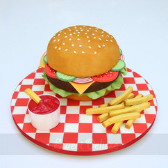Deluxe Burger Cake