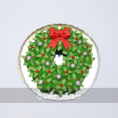 Holly Berry Wreath Cupcake