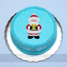 Santa's Magical Visit Cake