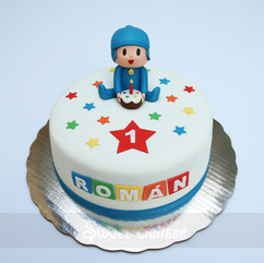 Pocoyo's Birthday Cake