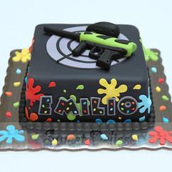 Paintball Gun Cake