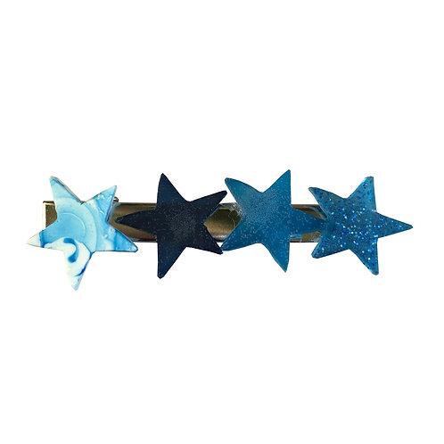 Hair Clip - Blue Stars