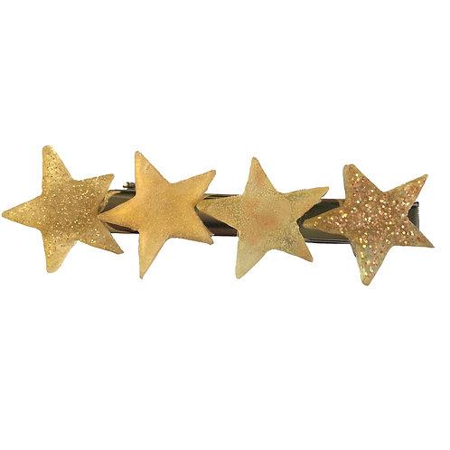 Hair Clip - Gold Stars