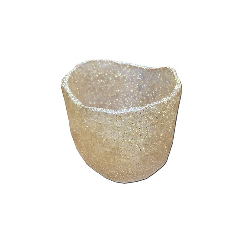 Resin Cup - Gold Glitter