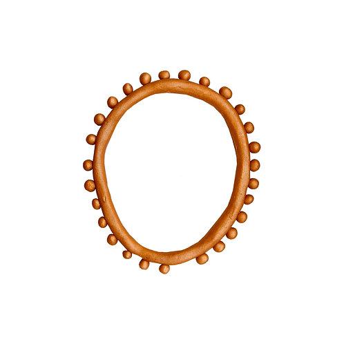 Resin Droplet Bangle - Bronze