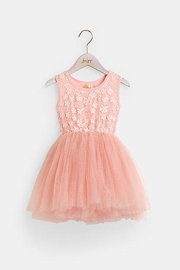 britt芭蕾洋裝/花樣精靈/櫻花粉