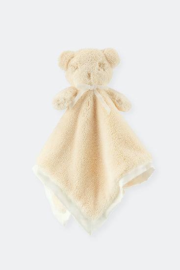 扁扁熊安撫巾/乳霜白