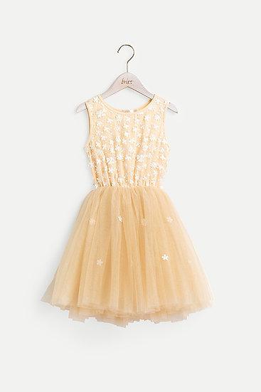 Britt芭蕾洋裝-花漾時氛/香草黃