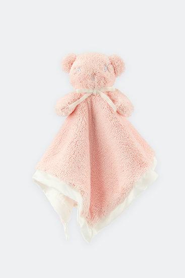 扁扁熊安撫巾/蘋果粉