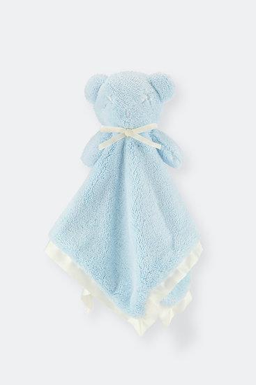 扁扁熊安撫巾/天空藍