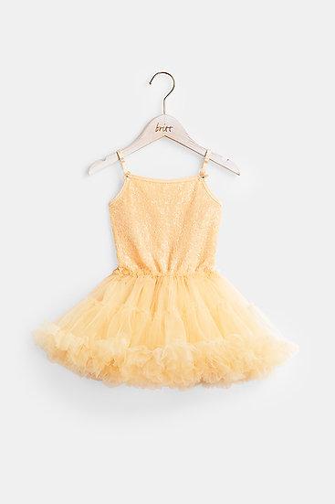 britt芭蕾洋裝/復古閃閃/裸粉