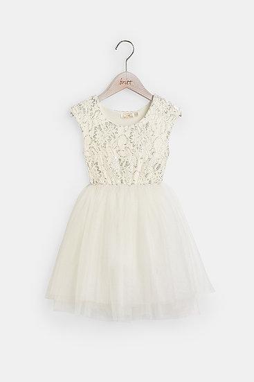 britt芭蕾洋裝/公主蕾絲/雪花白