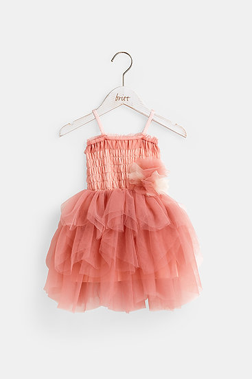 britt芭蕾洋裝/精靈粉撲/櫻桃粉